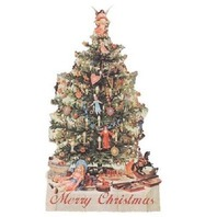 Victorian Turn Of The Century  Merry Christmas Tree Card #Grc151