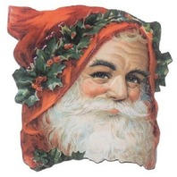 Victorian Turn Of The Century Christmas Santa Claus Easle Back Card  #Grc159