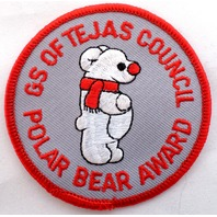 Girl Scout Patch Gs Of Tejas Texas Council Polar Bear Award #Gsrd