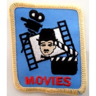 Girl Scout Gs Uniform Patch Charlie Chaplain Chaplin Movies Silver Screen  #Gsyl