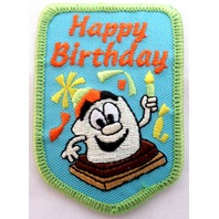Girl Scout Gs Vintage Uniform Patch Happy Birthday #Gsgr