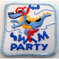 Gs Girl Scout Uniform Patch Swim Party Alligator Snorkle #Gsbl
