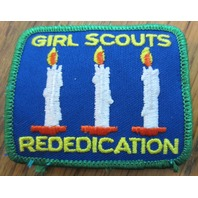 Girl Scout Gs Vintage Uniform Patch  Rededication