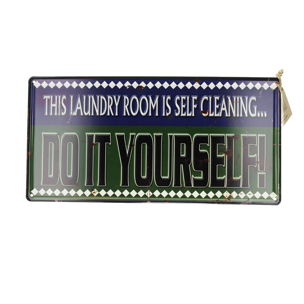 This Laundry Room is Self Cleaning Metal Sign Pub Game Room Bar