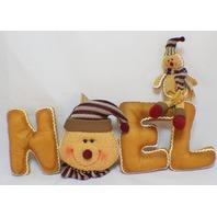 Hanna's Handiworks Plush Gingerbread Noel Pillow Table Decoration