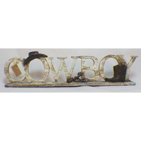 Cowboy free standing sign plaque decor Western themed Hanna's Handiworks