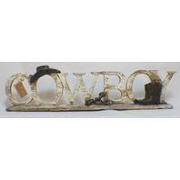 Cowboy free standing sign plaque decor Western themed Hanna's Handiworks