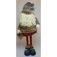 Hanna's Handiworks Plush Standing Santa Winter Sweater and Extender Legs