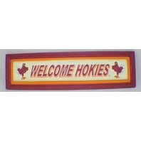 Virginia Tech Hokies Welcome Wooden Distressed College Sign