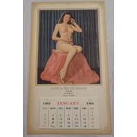 Auto And Truck Repair New York Ny Pin Up Calendar Nude Girl Advertising Ephemera