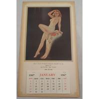 Buck'S Wrecker Service Queens Ny Pin Up Calendar Nude Girl Advertising Ephemera