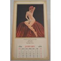 R & D Auto Sales Lubbock, Tx Pin Up Calendar Poster Advertising Nude Ephemera