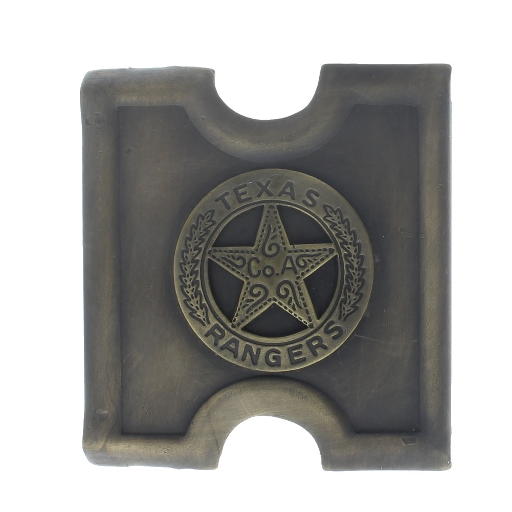 Anson Mills Belt Buckle Texas Rangers Solid Brass Reenactments