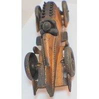 Cast Iron Metal Old Time Racer Toy Racing Car & Driver with Moving Pistons