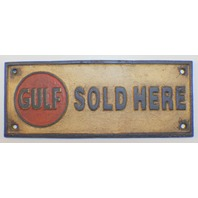 Golf Motor Oil Sold Here Plaque Cast Iron Metal Wall Plaque Sign
