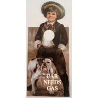 Door Knob Note Hanger Victorian Card Car Needs Gas Notice Sign