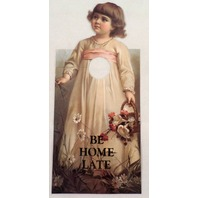 Door Knob Note Hanger Victorian Be Home Late Notice Sign
