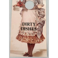 Dirty Dishes Door Knob Note Victorian Decor Sign Hanger