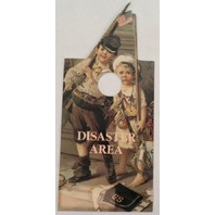 Door Knob Note Hanger Victorian Card Please Knock Disaster Area Children