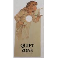 Door Knob Note Hanger Victorian Quiet Zone Notice Sign