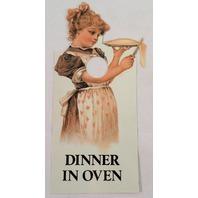 Door Knob Note Hanger Victorian Card Dinner in Oven Notict Sign