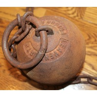 Cast Iron Ball And Chains Leg Irons Cuffs Leavenworth Prison  Free Shipping