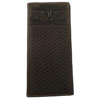 Black Leather Montana West Western Men'S Wallet