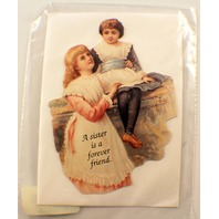 Victorian Turn Of The Century A Sister Is A Friend Forever Note Card #Mag102