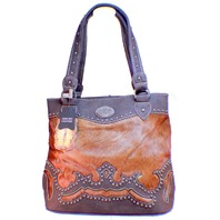 Montana Trail Trinity Ranch Montana West Leather Purse Cowhide Handbag