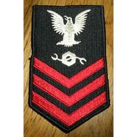Us Navy Construction Mechanic Petty Officer First Class Uniform Patch
