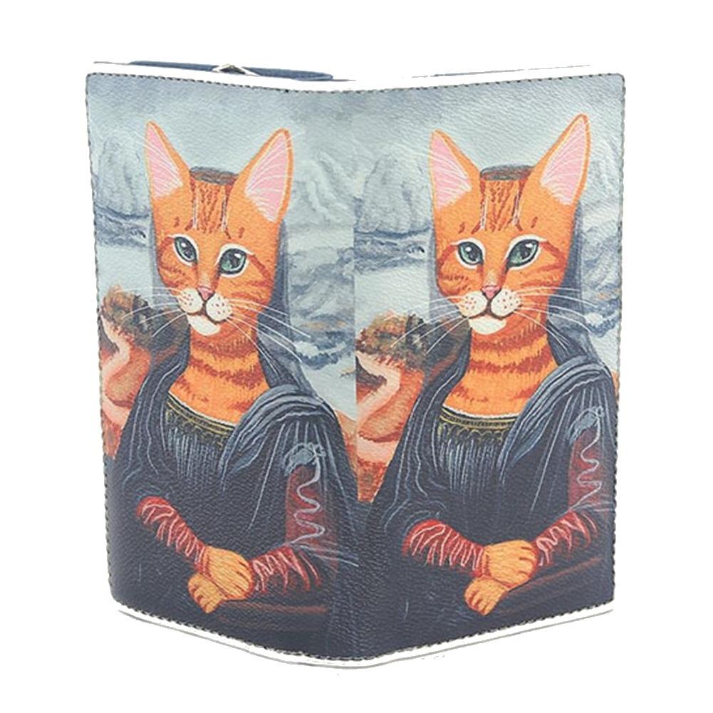 Sleepyville Mewonalisa Kitty Cat Kitten Wallet for Bag Handbag Purse