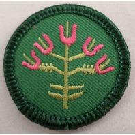 Girl Scout Gs Uniform Patch Junior Folk Arts  Wild Flower #Gsgr