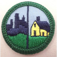 Girl Scout Gs Uniform Patch Humans And Habitats Home House  City Life #Gsgr