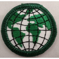 Girl Scout Gs Uniform Patch Junior Gs In My Future World Globe Planet #Gsgr
