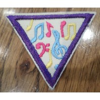 Girl Scout Uniform Patch Musical Note Music Appreciation Brownie Triangle
