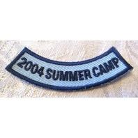 Vintage Uniform Patch Boy Scout Bsa Rocker Bar Summer Camp 2004 Blue And Navy