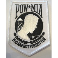 Pow Mia You Are Not Forgotten Uniform Jacket Patch In White
