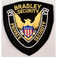 Bradley Security Private Security Eagle With Sheild Uniform Patch #Msbk