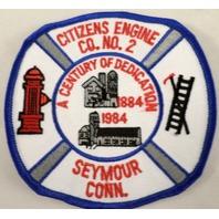 Citizen'S Engine Co No #2 Fire Department Dept Seymour Conn. Uniform Patch