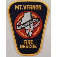 Mt Vernon Fire Rescue Department All American City Uniform Patch #Fd-Yl