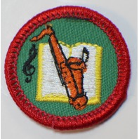 Girl Scout GS Uniform Patch Junior Doing Hobbies Saxaphone Instrument  #GSGR
