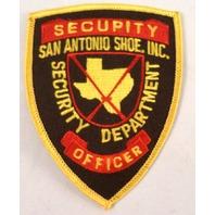 Security Department Officer San Antonio Shoe Inc.  Uniform Patch #Msyl