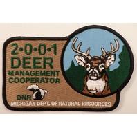 Deer Management Cooperator Michigan Natural Resources Uniform Patch #Ms-Bl