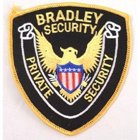 Bradley Security Private Eagle With Sheild  Uniform Patch #Msyl