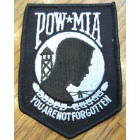 Pow Mia You Are Not Forgotten Uniform Jacket Patch In Black
