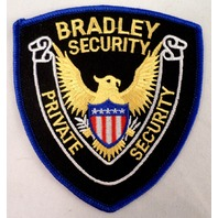 Bradley Security Private Security Eagle With Sheild Uniform Patch #Msbl