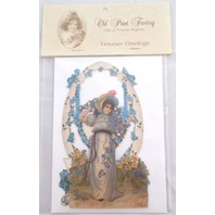 Victorian Turn Of The Century Easter Pop Up Girl In The Garden Flowers #Pop009