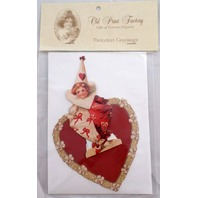 Victorian Turn Of The Century Valentine Card Pop-Up Jester Clown Heart #Pop016