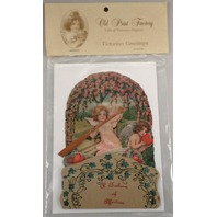 Victorian Turn Of The Century Valentine Card Pop-Up Angel Love Boat Ride #Pop017