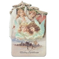 Victorian Turn Of The Century Merry Christmas Angels Pop-Up Card  #Pop107